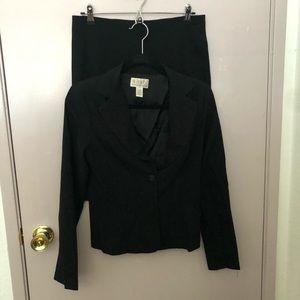 Xoxo Black Skirt Suit Set